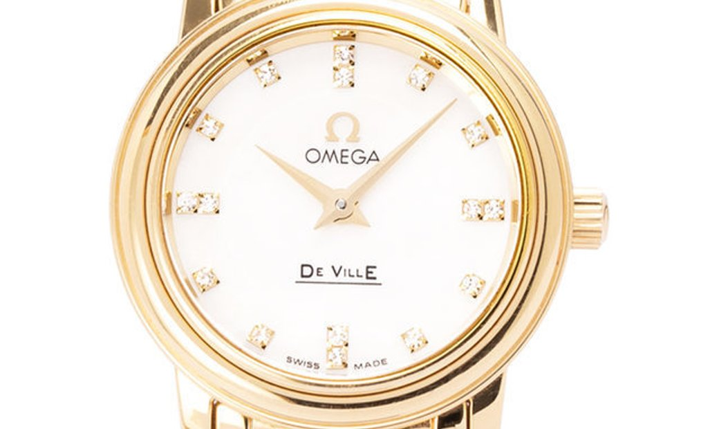 Omega De Ville Prestige Ladies 4170.76.00, Baton, 2013, Very Good, Case material Yellow