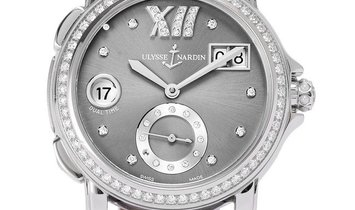 Ulysse Nardin Dual Time 243-22, Diamonds, 2011, Very Good, Case material Steel, Bracele