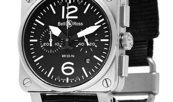 Bell and Ross BR03-94 Chronograph BR03-94, Baton, 2008, Very Good, Case material Steel,