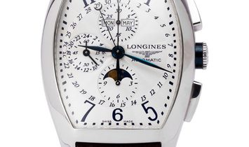 Longines Evidenza L2.688.4, Baton, 2011, Very Good, Case material Steel, Bracelet mater