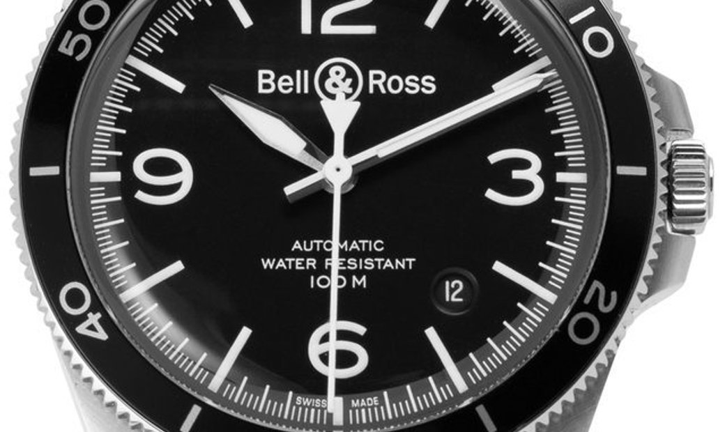 Bell and Ross BR V2-92 BRV292-BL-ST/SCA, Baton, 2019, Very Good, Case material Steel, B