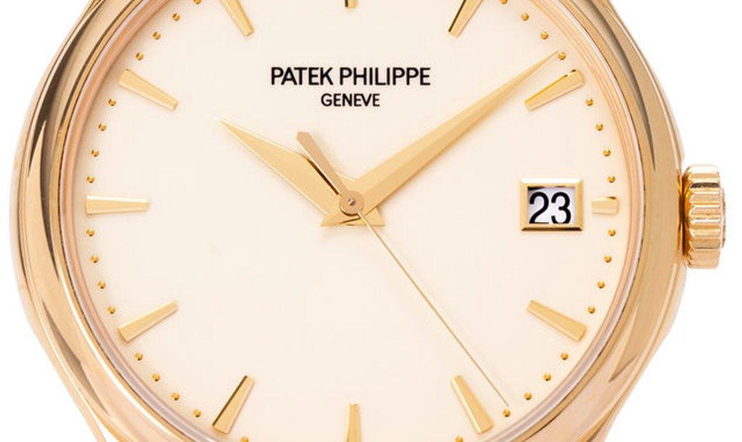 Patek Philippe Calatrava 5227J-001, Baton, 2017, Very Good, Case material Yellow Gold,