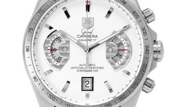 TAG Heuer Grand Carrera CAV511B.FC6231, Baton, 2012, Very Good, Case material Steel, Br