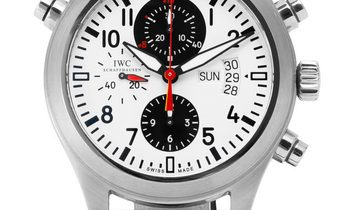 IWC Pilots Double Chrono IW371803, Arabic Numerals, 2009, Very Good, Case material Stee