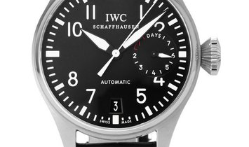 IWC Big Pilots IW500401, Arabic Numerals, 2006, Good, Case material Steel, Bracelet mat