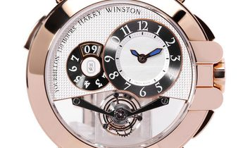 Harry Winston Ocean Tourbillon BigDate  400/MMTBD45R, Arabic Numerals, 2016, Unworn, Ca