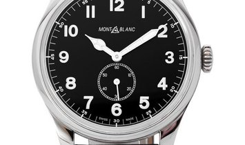 Montblanc 1858 115073, Arabic Numerals, 2019, Very Good, Case material Steel, Bracelet