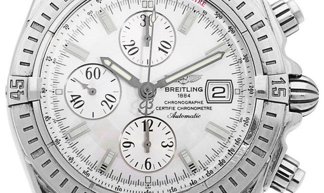 Breitling Chronomat Evolution J13356, Baton, 2006, Very Good, Case material White Gold,