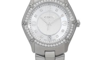 Ebel Sport 1216189, Arabic Numerals, 2017, Very Good, Case material Steel, Bracelet mat
