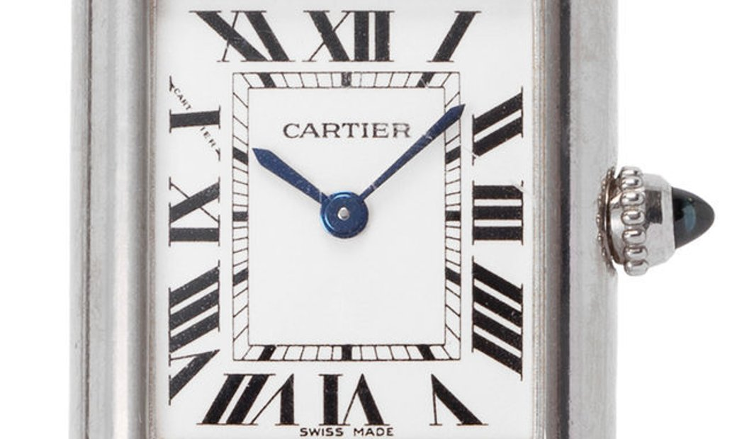 Cartier Tank Louis W1541056 2679, Roman Numerals, 2007, Good, Case material White Gold,