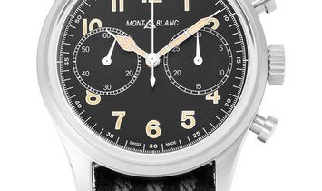 Montblanc 1858 117835, Arabic Numerals, 2019, Very Good, Case material Steel, Bracelet
