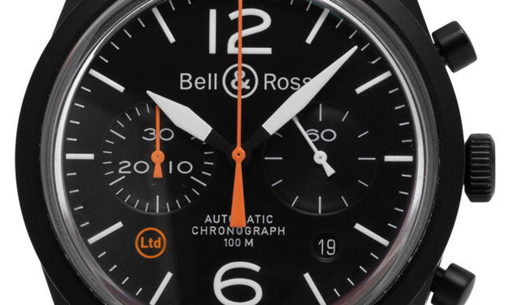 Bell and Ross Vintage 126 Chronograph BR126-94-SC, Baton, 2018, Good, Case material Ste