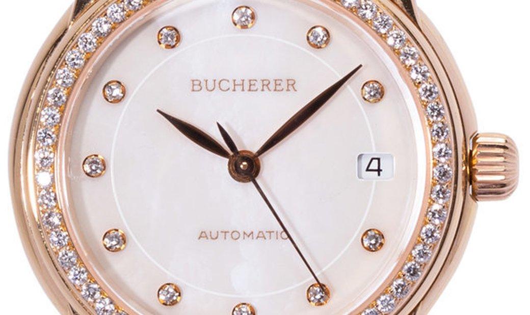 Bucherer Archimedes ETA 2000-1, Diamonds, 2002, Very Good, Case material Yellow Gold, B