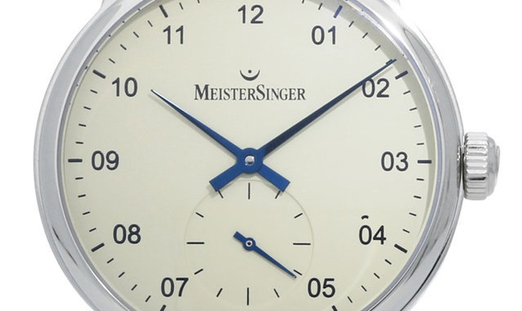 Meistersinger Karelia CM103, Arabic Numerals, 2010, Unworn, Case material Steel, Bracel