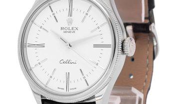 Rolex Cellini 50509, Baton, 2016, Very Good, Case material White Gold, Bracelet materia