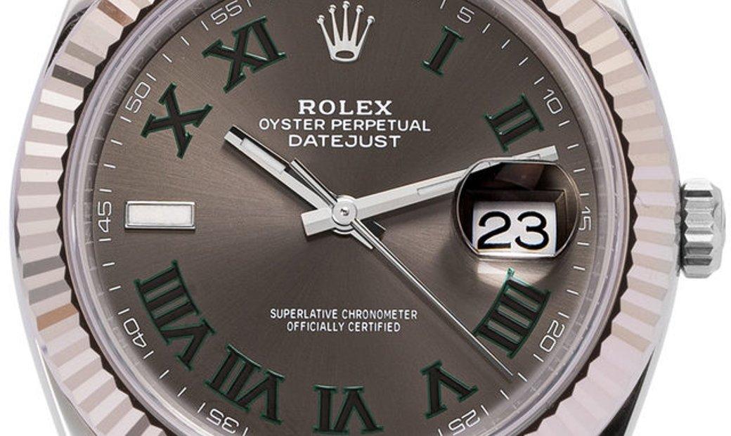 Rolex Datejust 126334, Roman Numerals, 2019, Very Good, Case material Steel, Bracelet m
