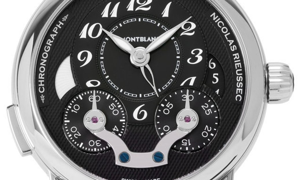 Montblanc Nicolas Rieussec 106488, Arabic Numerals, 2015, Very Good, Case material Stee