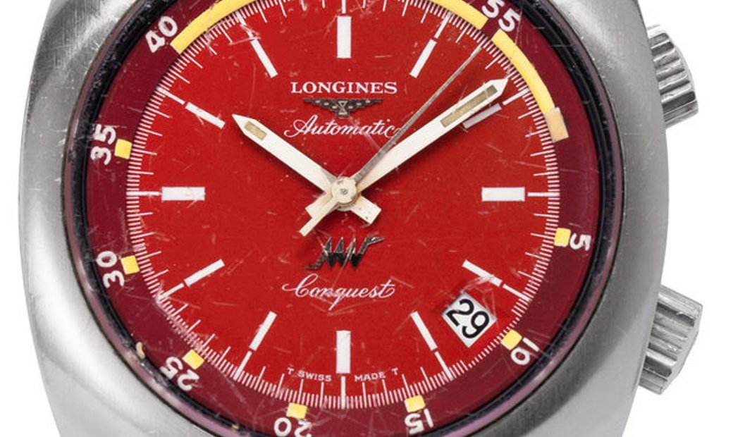 Longines Conquest 9221-2, Baton, 1970, Used, Case material Steel, Bracelet material: St