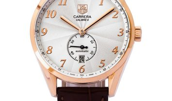 TAG Heuer Carrera WAS2140.FC8176, Arabic Numerals, 2019, Very Good, Case material Rose