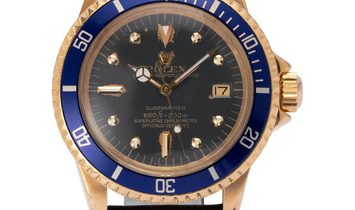 Rolex Submariner 1680, Baton, 1973, Used, Case material Yellow Gold, Bracelet material: