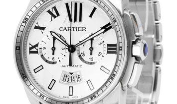 Cartier Calibre de Cartier W7100045, Baton, 2015, Very Good, Case material Steel, Brace
