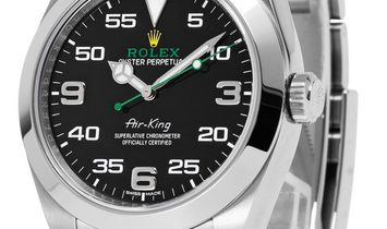 Rolex Air-King 116900, Arabic Numerals, 2017, Very Good, Case material Steel, Bracelet