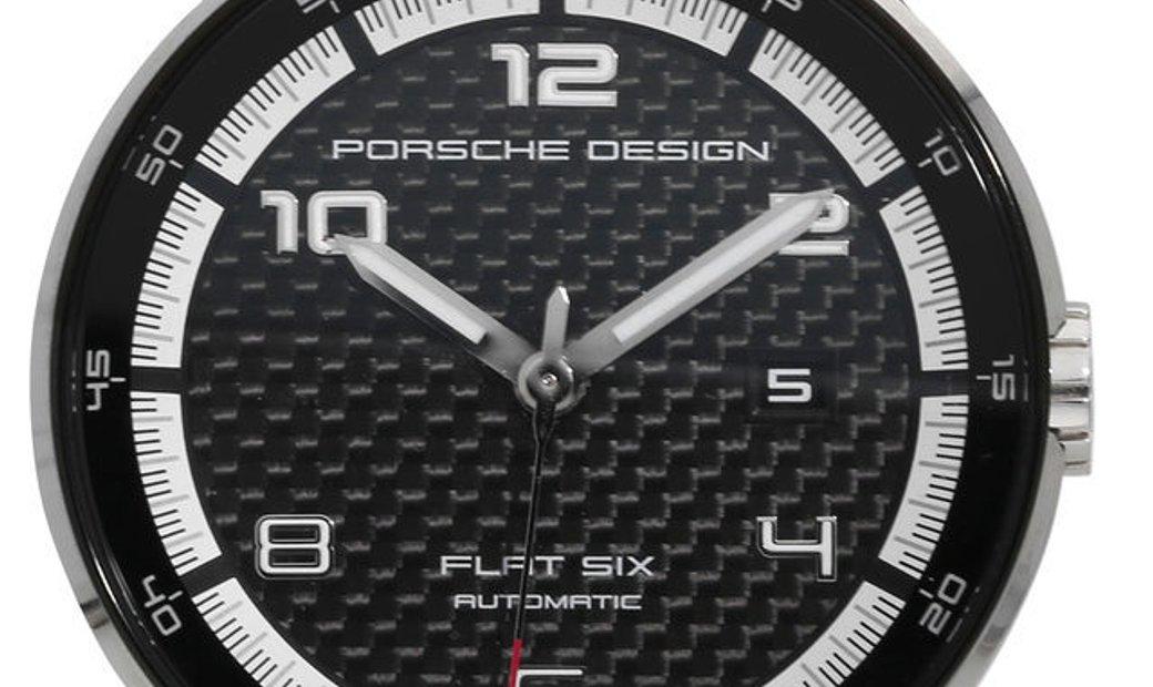 Porsche Design Flat Six P6350.42, Arabic Numerals, 2018, Very Good, Case material Steel