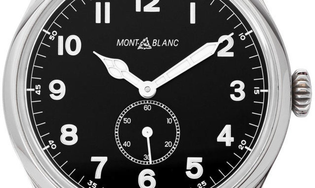 Montblanc 1858 115073, Arabic Numerals, 2019, Very Good, Case material Steel, Bracelet