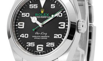 Rolex Air-King 116900, Arabic Numerals, 2017, Very Good, Case material Steel, Bracelet