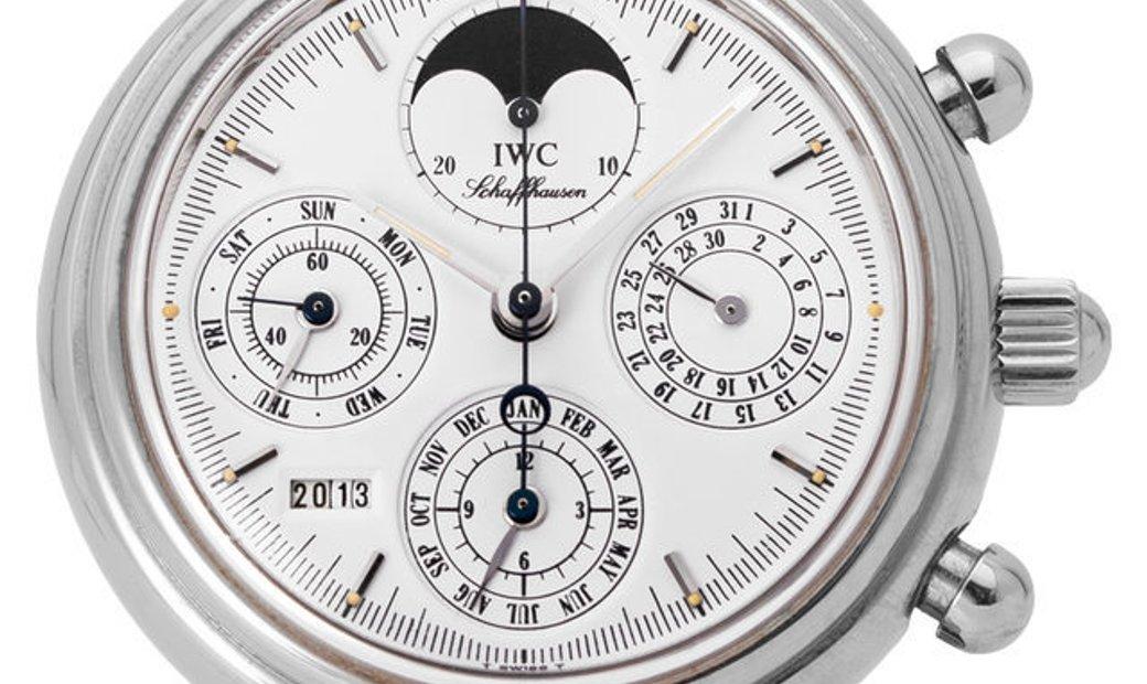 IWC Da Vinci Perpetual Calendar 3750, Baton, 2000, Very Good, Case material Steel, Brac