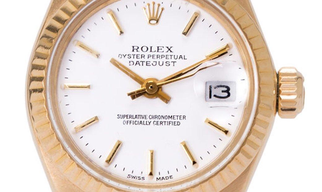 Rolex Lady-Datejust 6917, Baton, 1975, Used, Case material Yellow Gold, Bracelet materi