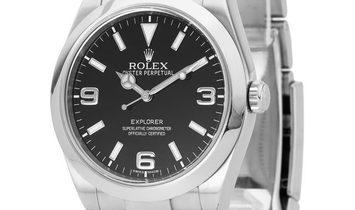 Rolex Explorer 214270, Arabic Numerals, 2016, Very Good, Case material Steel, Bracelet