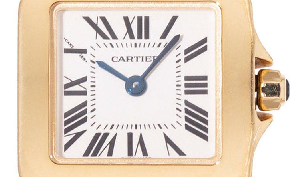 Cartier Santos Demoiselle W25063X9 2699, Roman Numerals, 2006, Very Good, Case material