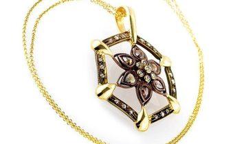 LB Exclusive LB Exclusive 14K Yellow & Rose Gold Diamond Flower Pendant Necklace