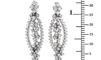 Raima Raima 18K White Gold Openwork Diamond Earrings