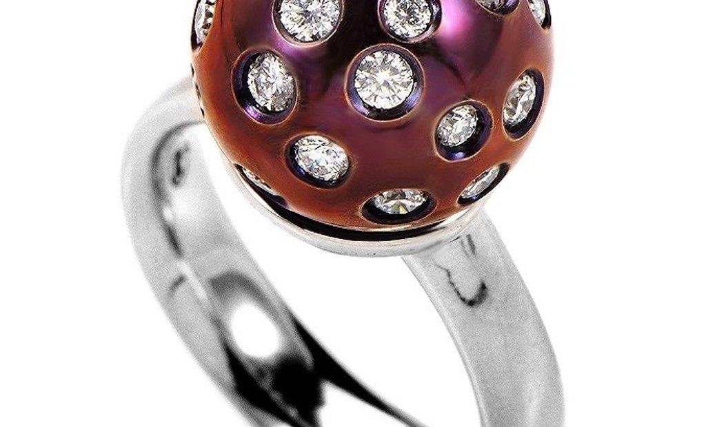 Salavetti Salavetti 18K White Gold Diamond Ring SALAG04-080612