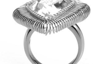 Non Branded 18K White Gold White Topaz Ring CRR9950