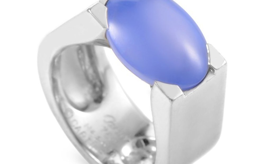 Cartier Cartier 18K White Gold Chalcedony Ring