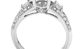 Natalie K Natalie K 18K White Gold & Diamond Engagement Ring Semi-Mount SM8-041261W