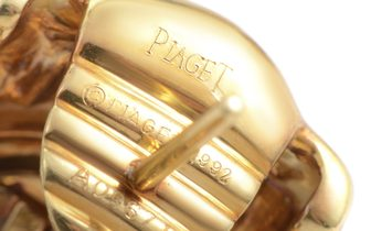 Piaget Piaget 18K Yellow Gold 0.80 ct Diamond Pave Huggie Earrings