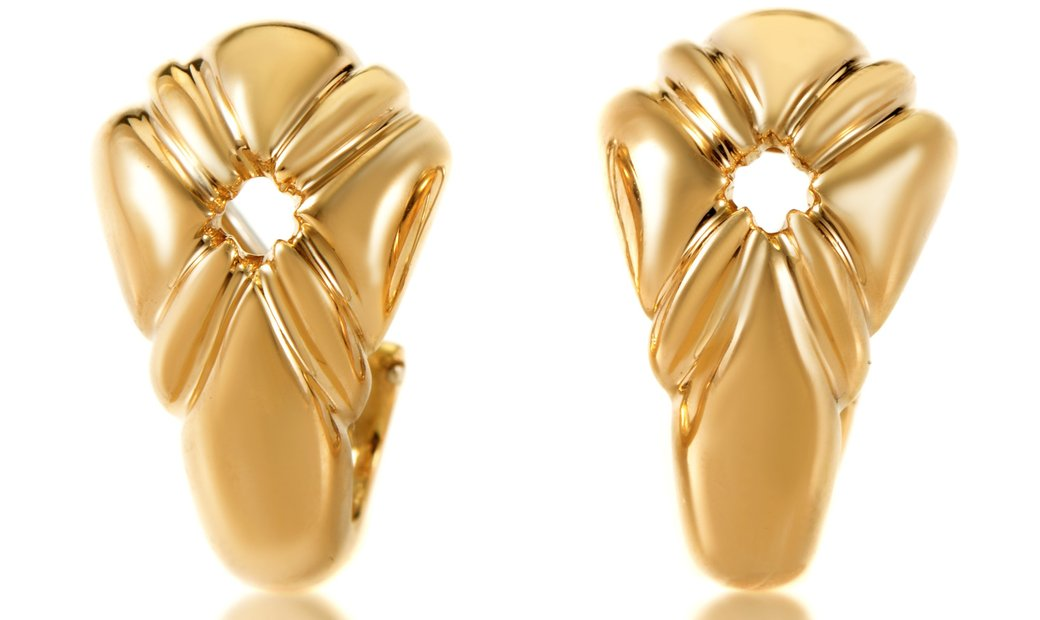 Chaumet Chaumet Women's 18K Yellow Gold Clip-on Earrings