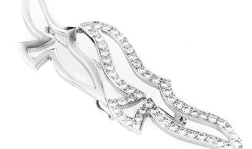 Cartier Cartier Women's 18K White Gold Diamond Bird Brooch