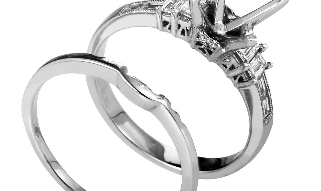 Natalie K Natalie K Women's 14K White Gold & Diamond Mounting Bridal Set SM-051634