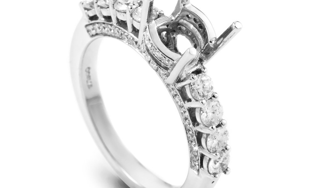 LB Exclusive LB Exclusive 18K White Gold 8 Diamond Mounting Ring T-86-031616