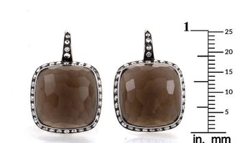 French Collection French Collection LB Exclusive French Collection 18K White Gold Smokey Topaz & Dia