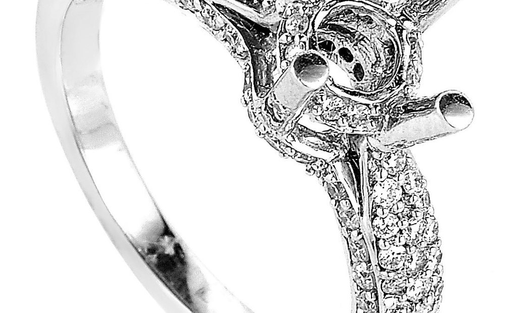 Natalie K Natalie K ~.60ct 18K White Gold Diamond Engagement Ring Mounting