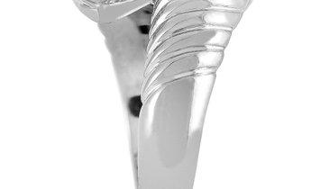 Bvlgari Bvlgari Doppio 18K White Gold Peridot and Topaz Bypass Ring