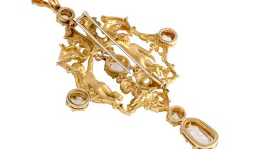 Carrera y Carrera Carrera y Carrera 18K Yellow Gold Rose Cut Diamond Pendant/Brooch