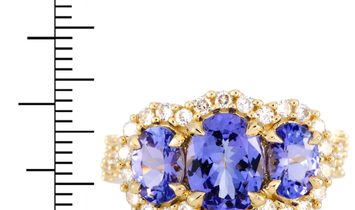 LB Exclusive LB Exclusive 14K Yellow Gold Diamond and Tanzanite Ring