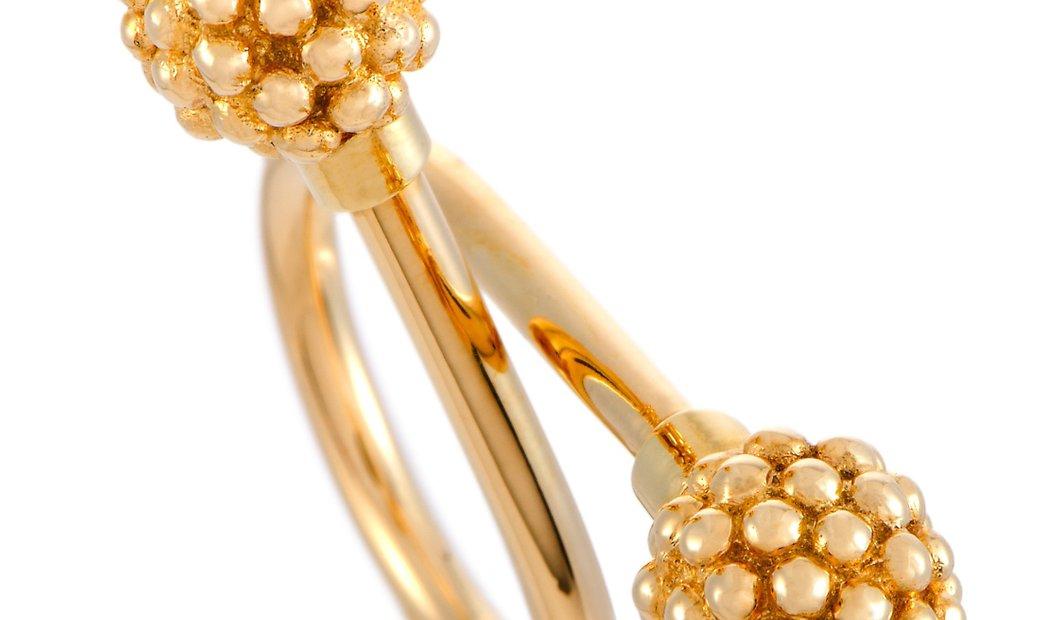Van Cleef & Arpels Van Cleef & Arpels Vintage 18K Yellow Gold Balls Bypass Ring